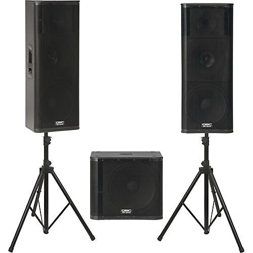 QSC KW153 /  KW181 Powered Speaker Package