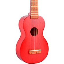 Mahalo Kahiko Series MK1 Soprano Ukulele Transparent Red