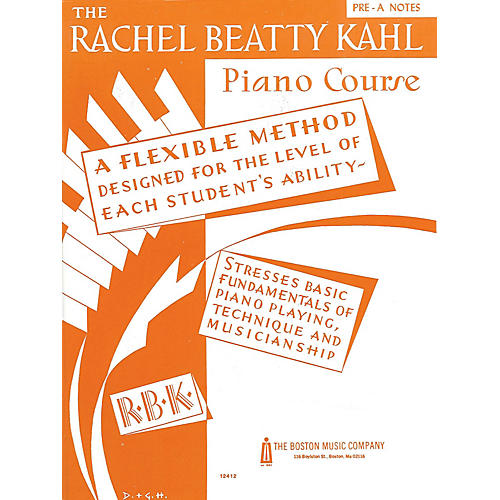 Music Sales Kahl Piano Course Pre-A Notes Music Sales America Series Written by Rachel Beatty Kahl-thumbnail