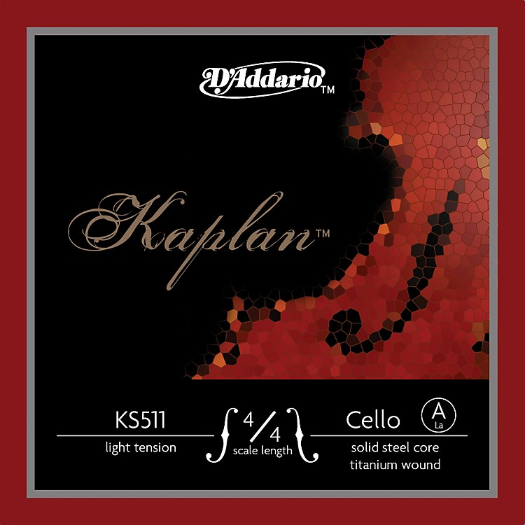 D'Addario Kaplan 4/4 Size Light Cello Strings 4/4 Size A String