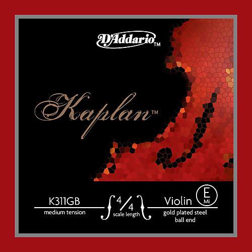 D'Addario Kaplan Gold Plated Series Violin E String