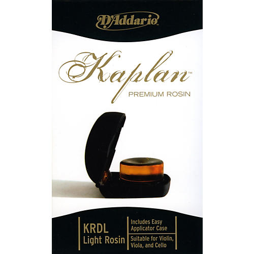 D'Addario Kaplan Premium Rosin Light With Case