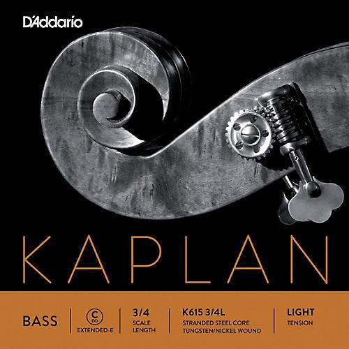 D'Addario Kaplan Series Double Bass C (Extended E) String 3/4 Size Light
