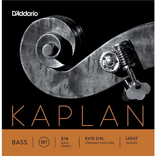 D'Addario Kaplan Series Double Bass String Set 3/4 Size Light