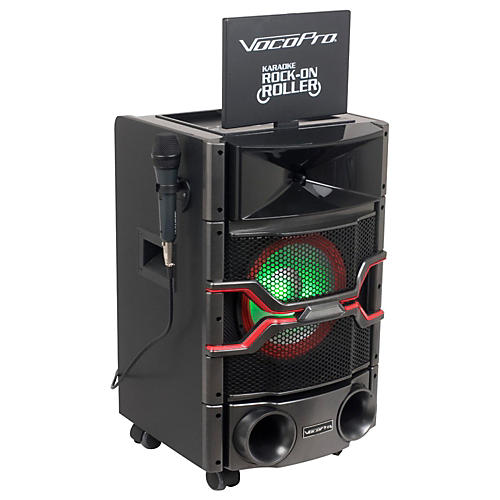 vocopro karaoke rock on roller dvd karaoke system with 10 display and lightshow speaker. Black Bedroom Furniture Sets. Home Design Ideas