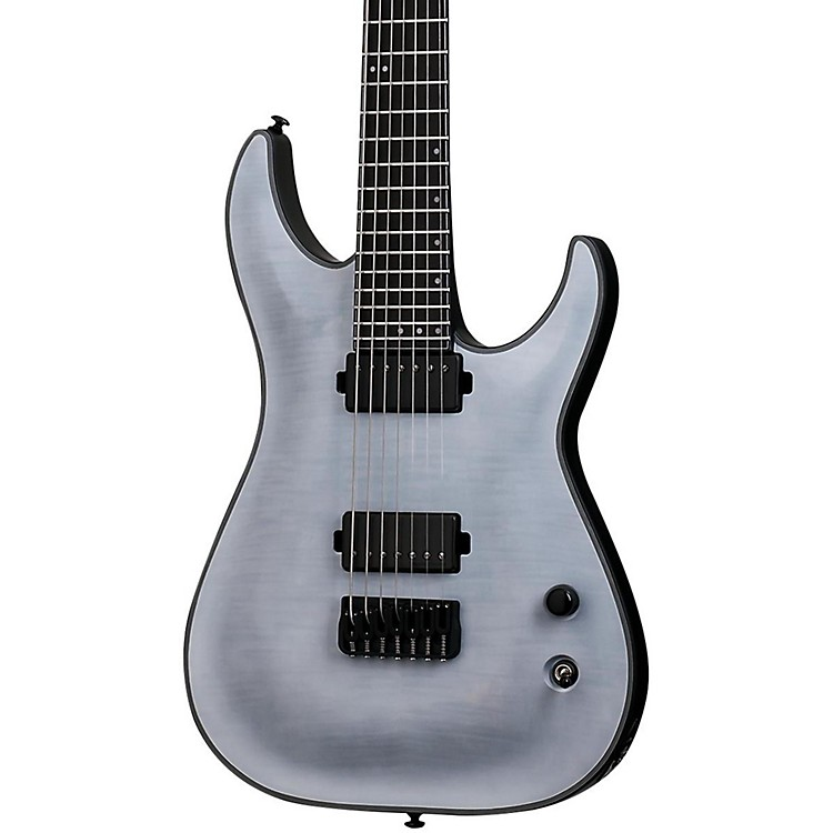 Schecter Guitar Research Keith Merrow KM-7 7 String Electric Guitar Trans White Satin