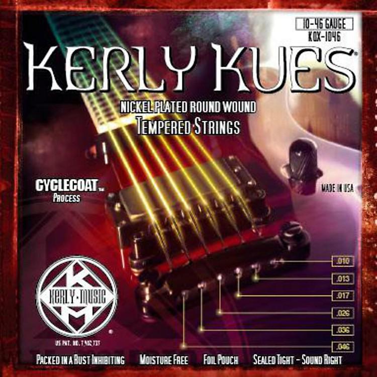 Kerly Music Kerly Kues Nickel Wound Electric Guitar Strings Medium