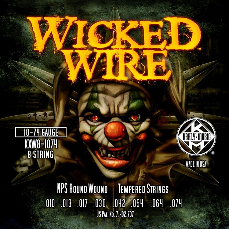 Kerly MusicKerly Wicked Wire NPS Electric 8-String 10-74