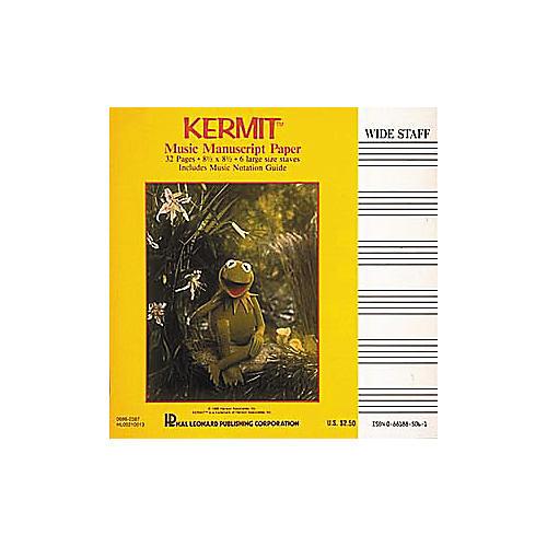 Hal Leonard Kermit The Frog Manuscript Paper Book
