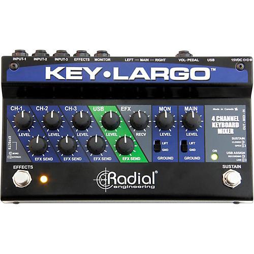 Radial Engineering Key-Largo Keyboard Mixer and Performance Pedal-thumbnail