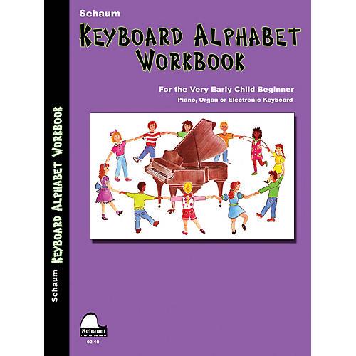 SCHAUM Keyboard Alphabet Workbook Educational Piano Book by Sue Pennington (Level Early Elem)