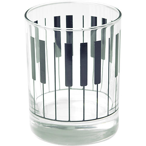 Gear One Keyboard Glass Tumbler