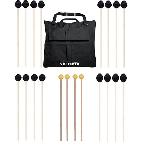 Vic Firth Keyboard Mallet 10-Pack w/ Free Mallet Bag - M182(2), M183(2), M187(4) ,M134(2)-thumbnail