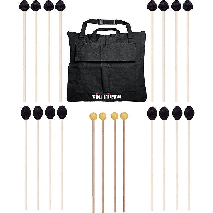 Vic FirthKeyboard Mallet 10-Pack w/ Free Mallet Bag - M183(4), M188(4) ,M134(2)
