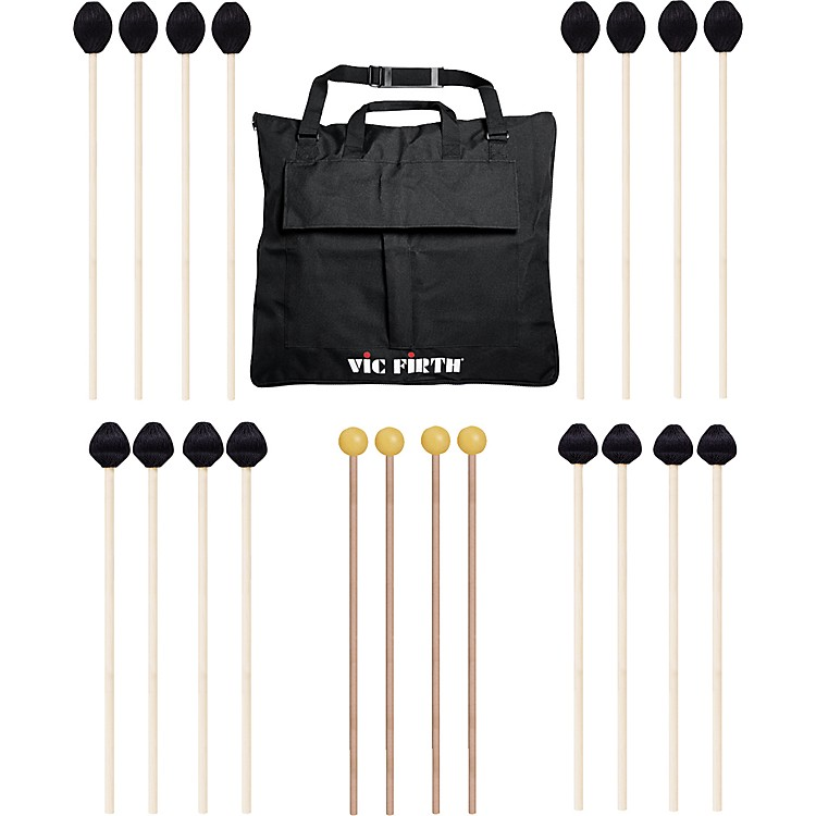 Vic FirthKeyboard Mallet 10-Pack w/ Free Mallet BagM183(4), M187(2), M188(2)