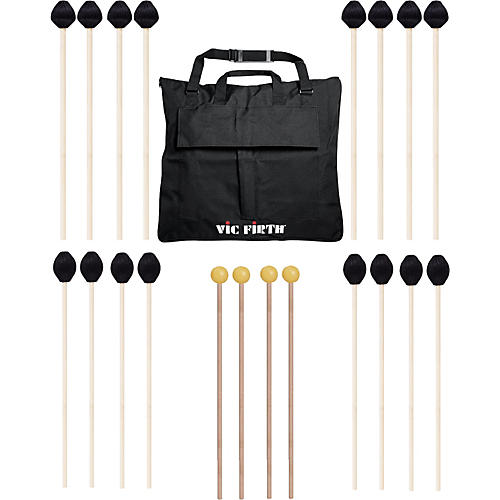 Vic Firth Keyboard Mallet 10-Pack w/ Free Mallet Bag M183(4), M187(4)