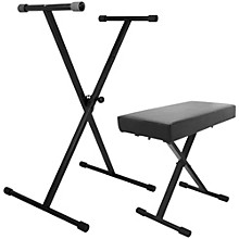 Open Box On-Stage Stands Keyboard Stand and Bench Pack