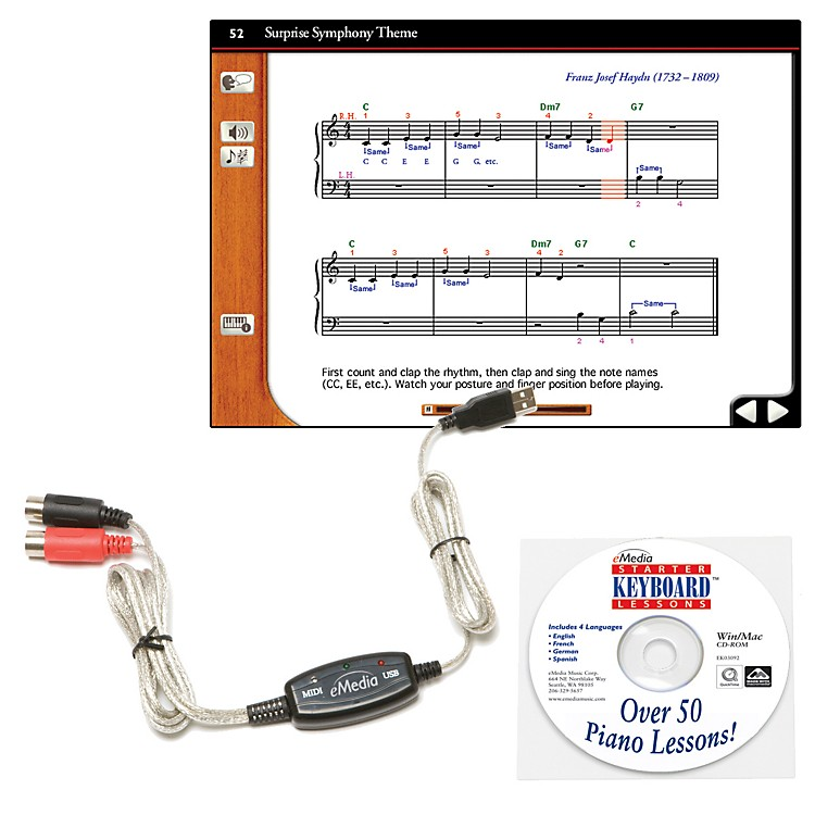 eMediaKeyboard USB MIDI Interface Kit