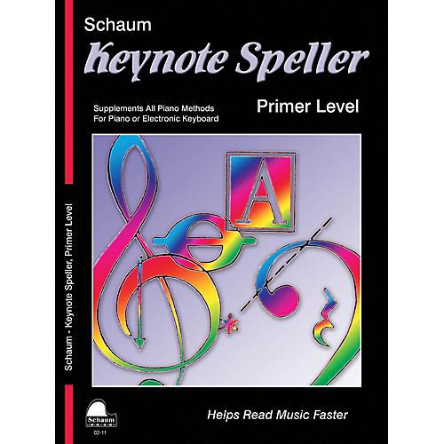 SCHAUM Keynote Speller Primer Level Educational Piano Book by John W. Schaum