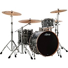 Ludwig Keystone X 3-Piece Pro Beat Shell Pack with 24 in. Bass Drum Vintage Black Oyster Pearl