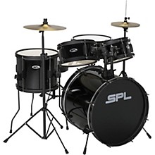 Sound Percussion Labs Kicker Pro 5-Piece Drum Set with Stands, Cymbals and Throne Black
