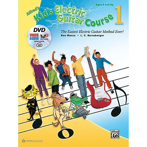 Alfred Kid's Electric Guitar Course 1 (Book/DVD/Online Streaming)-thumbnail