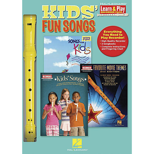 Hal Leonard Kids' Fun Songs Learn & Play 3-Book & Recorder Pack-thumbnail