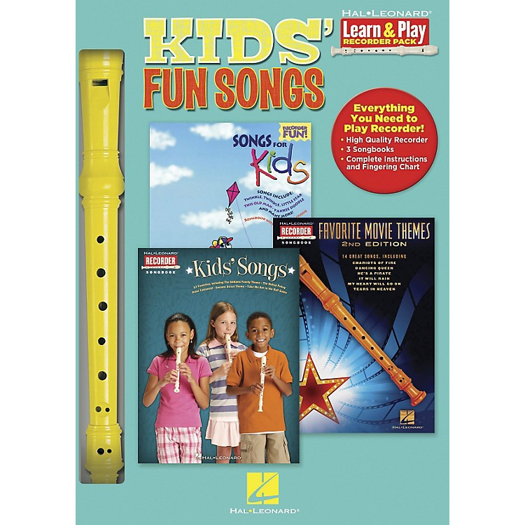 Hal LeonardKids' Fun Songs Learn & Play 3-Book & Recorder Pack