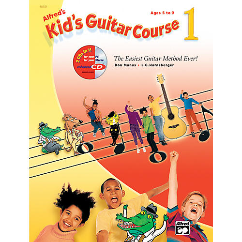 Alfred Kid's Guitar Course 1 Book Enhanced CD & DVD