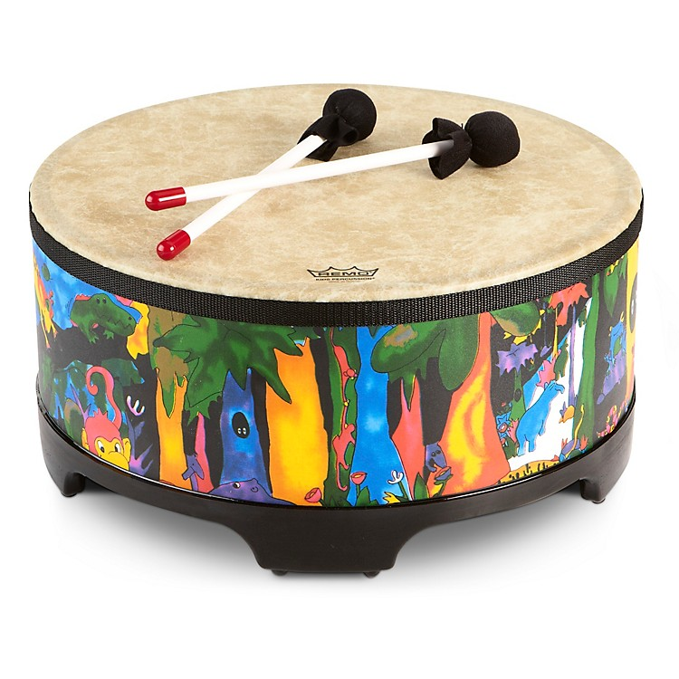 RemoKid's Percussion Rain forest Gathering Drum16X8 Inches