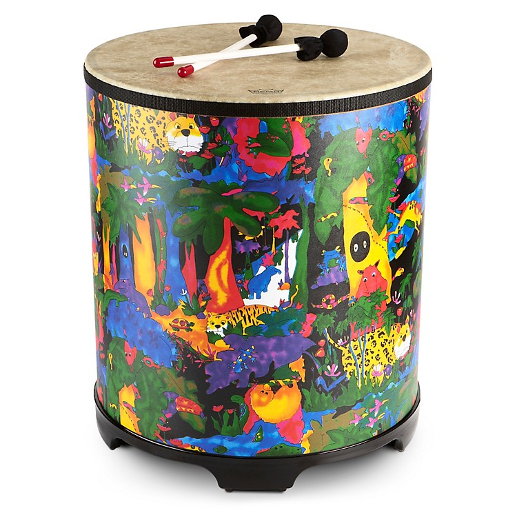 Remo Kid's Percussion Rain forest Gathering Drum  18X21 Inches