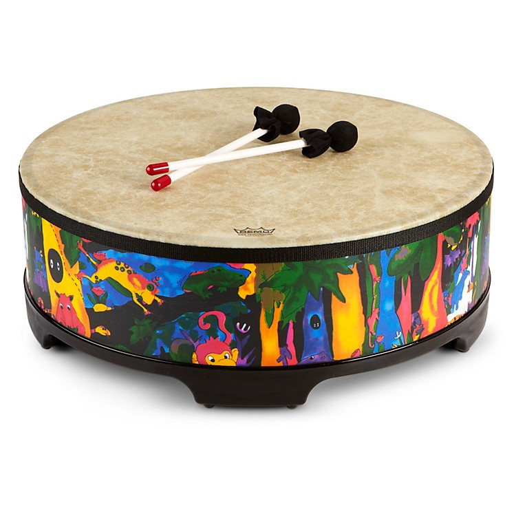 Remo Kid's Percussion Rain forest Gathering Drum  7-1/2X22 Inches