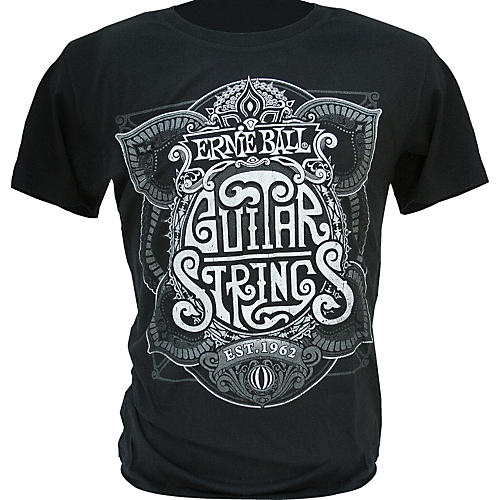 Ernie Ball King of Strings T-Shirt Black Small