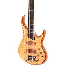 MTD Kingston KZ 5-String Fretless Bass Level 1 Gloss Natural Ebonol