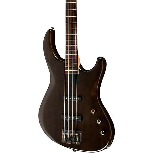 MTD Kingston Saratoga 4-String Electric Bass Guitar Transparent Black Rosewood Fingerboard