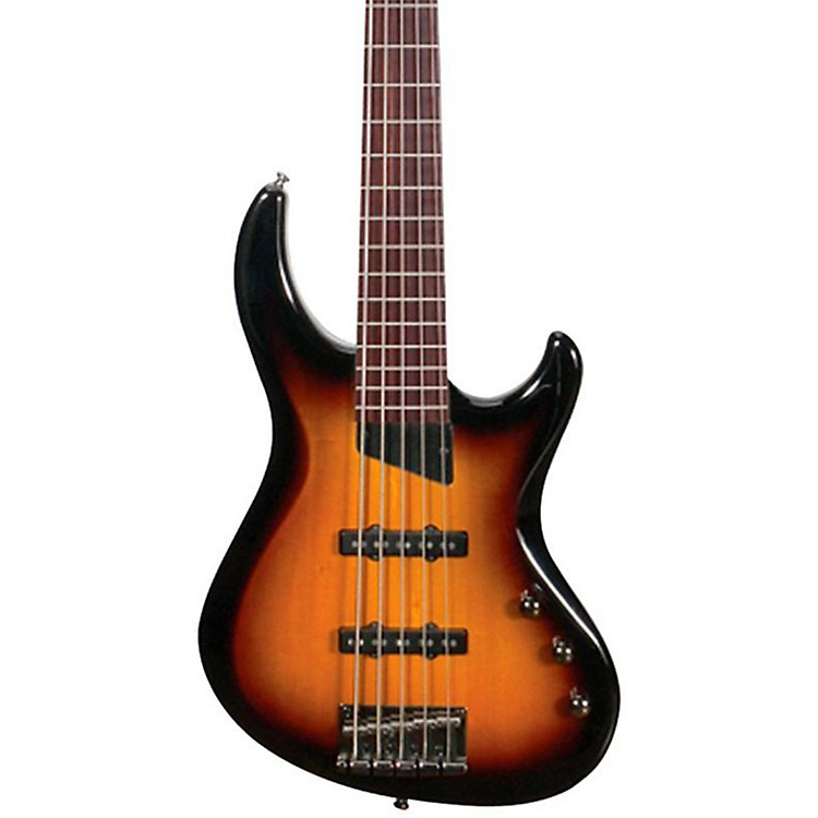 MTD Kingston Saratoga 5-String Electric Bass Guitar Tobacco Sunburst Maple Fingerboard