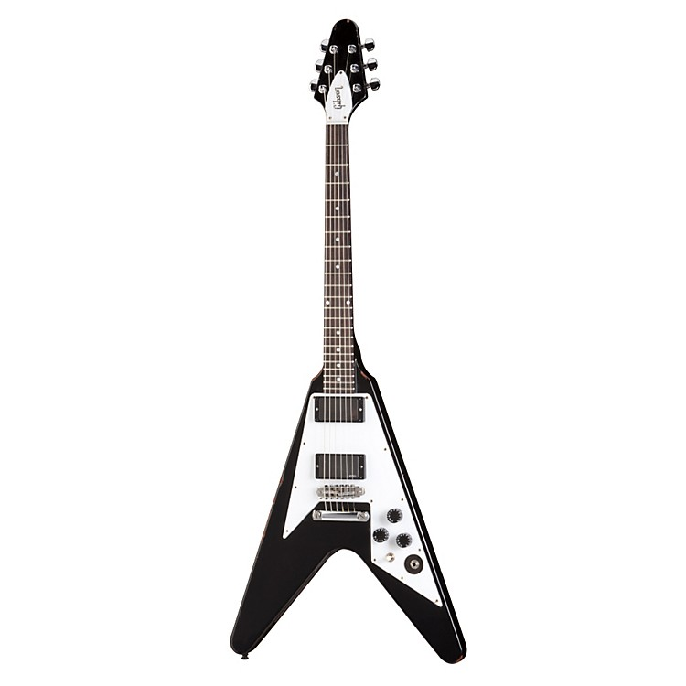 Gibson Custom Kirk Hammett Flying V Aged Electric Guitar