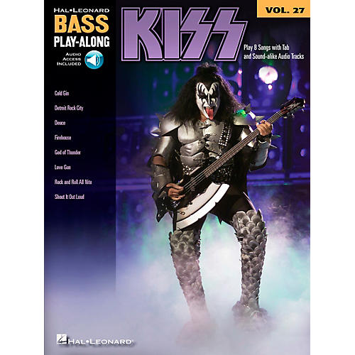 Hal Leonard Kiss - Bass Play-Along Volume 27 Book/CD