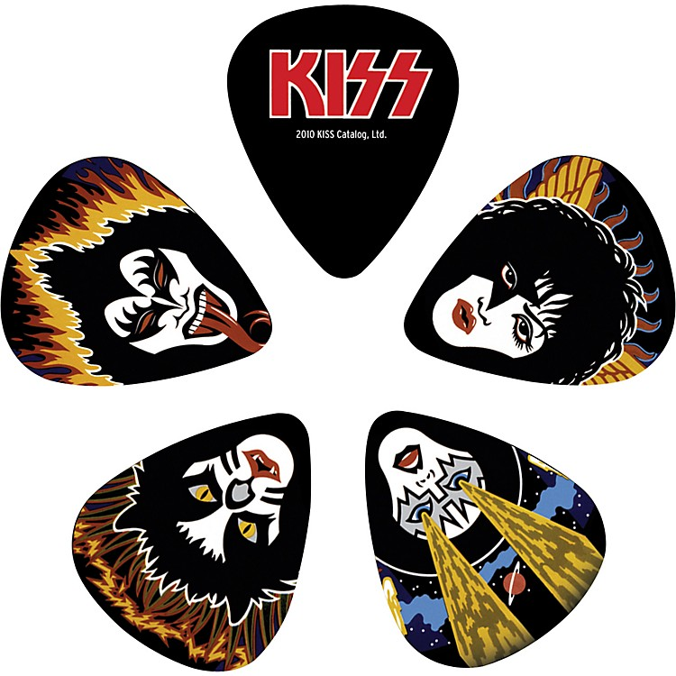 Planet Waves Kiss Rock & Roll Over Guitar Picks 10 Pack Light