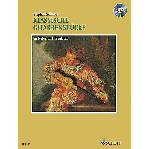 Schott Klassische Gitarrenstücke (German Text) Schott Series Softcover with CD