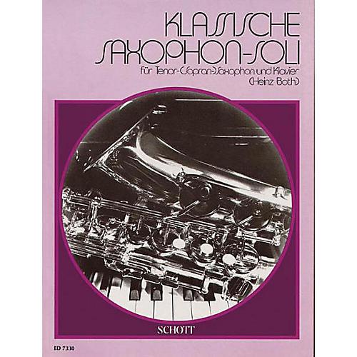 Schott Klassische Saxophone-soli (German Text) Schott Series-thumbnail