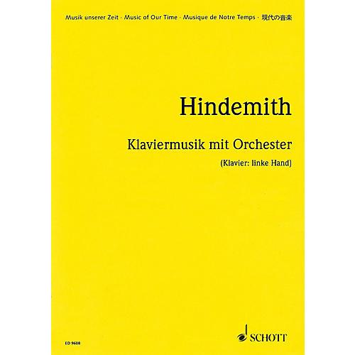 Schott Klaviermusik mit Orchester, Op. 29 (1923) (Study Score) Schott Series-thumbnail