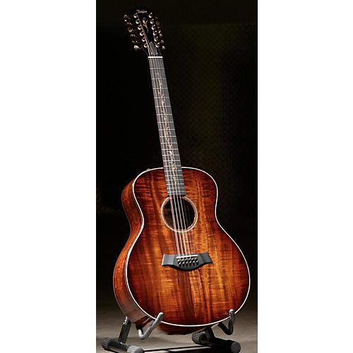 Taylor Koa Series K66eES2-AA 12-String Acoustic-Electric Guitar-thumbnail