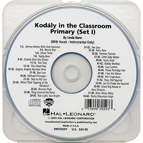 Hal Leonard Kodaly in the Classroom Primary