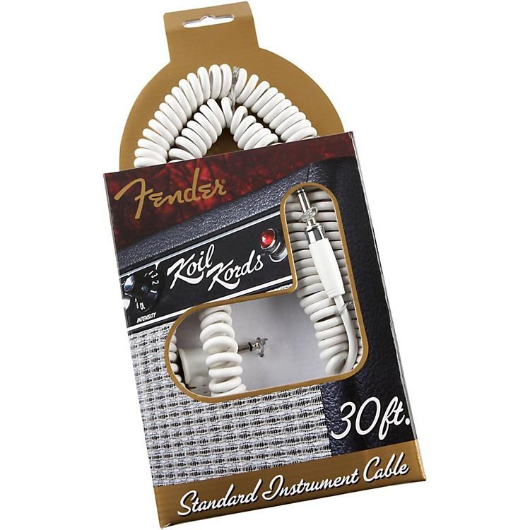 FenderKoilKords Standard Instrument CableWhite30 FT