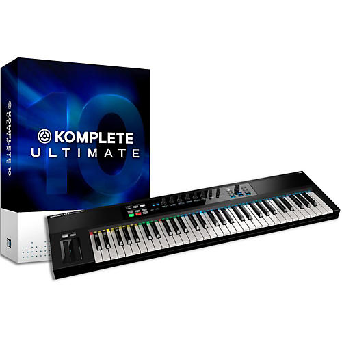 Native Instruments Komplete 10 Ultimate And Kontrol S61 Keyboard Bundle-thumbnail