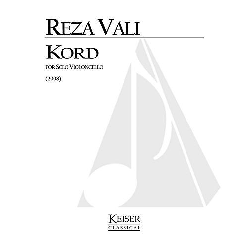Lauren Keiser Music Publishing Kord for Solo Cello: Calligraphy No. 9 LKM Music Series by Reza Vali-thumbnail