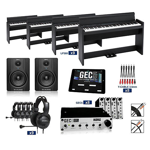 Korg Korg LP380SBK - 88 Key Digital Piano Lab (8 Students plus Teacher)-thumbnail