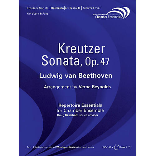 Boosey and Hawkes Kreutzer Sonata, Op. 47 (Score Only) Windependence Chamber Ensemble Series by Ludwig van Beethoven-thumbnail