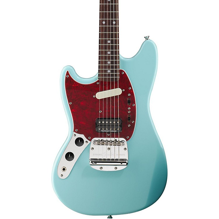 Fender Kurt Cobain Signature Mustang Left-Handed Electric Guitar Sonic Blue Rosewood Fingerboard